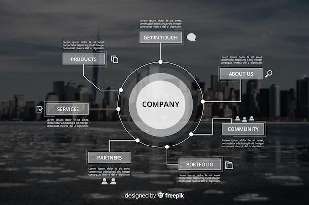 Zakelijke infographic met foto Gratis Vector