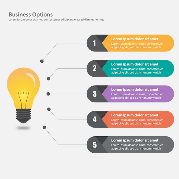 Zakelijke infographic ontwerp Gratis Vector
