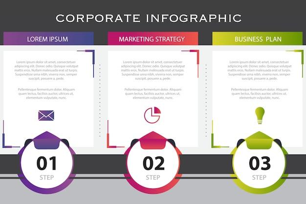 Zakelijke infographic presentatiesjabloon Gratis Vector