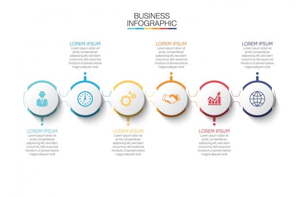 Zakelijke infographic presentatiesjabloon Premium Vector