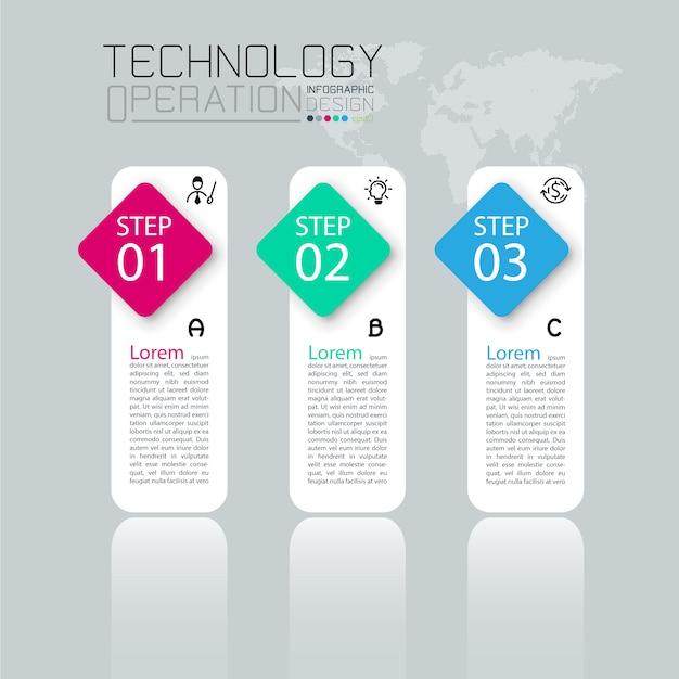 Zakelijke infographic sjabloon met tien stappen Premium Vector