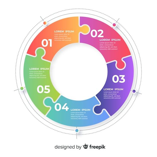 Zakelijke infographic sjabloon, samenstelling van infographic elementen Gratis Vector