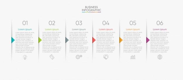 Zakelijke infographic sjabloon Premium Vector