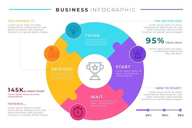 Zakelijke infographic sjabloonontwerp Gratis Vector