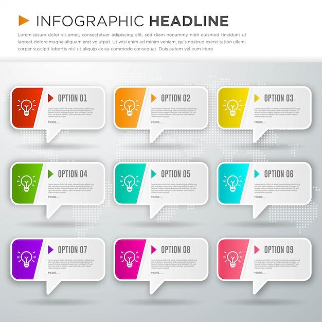 Zakelijke infographic sjabloonontwerp Premium Vector