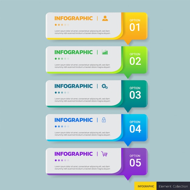 Zakelijke infographics ontwerpsjabloon Premium Vector