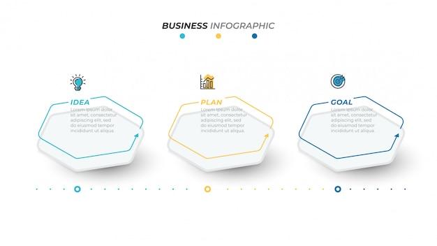 Zakelijke infographics sjabloon Premium Vector