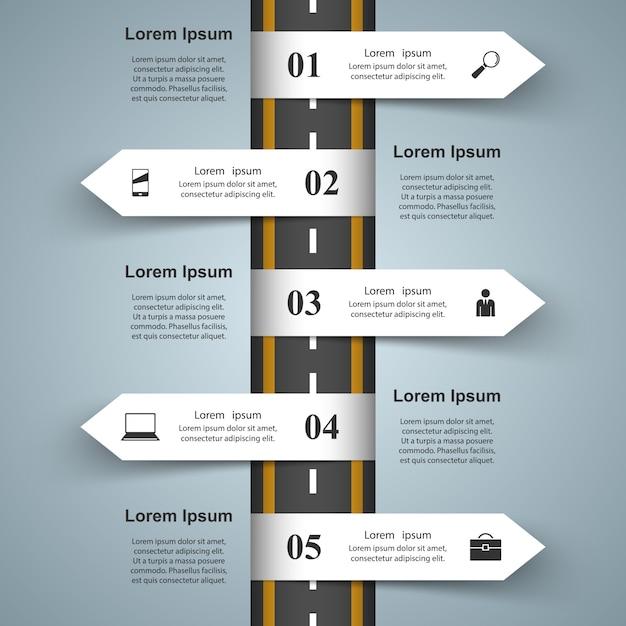 Zakelijke infographics Premium Vector