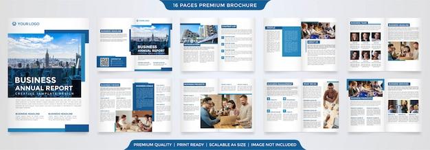 Zakelijke jaarverslag sjabloon Premium Vector