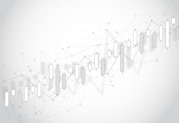 Zakelijke kaars stick grafiek grafiek van de aandelenmarkt Premium Vector