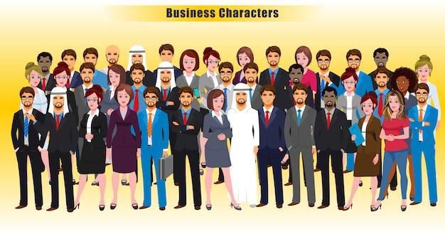 Zakelijke karakters Premium Vector