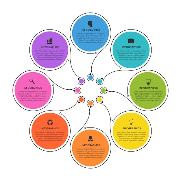 Zakelijke opties infographics. Premium Vector