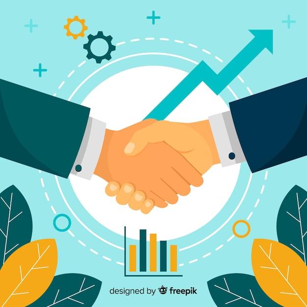 Zakelijke overeenkomst handen schudden Gratis Vector