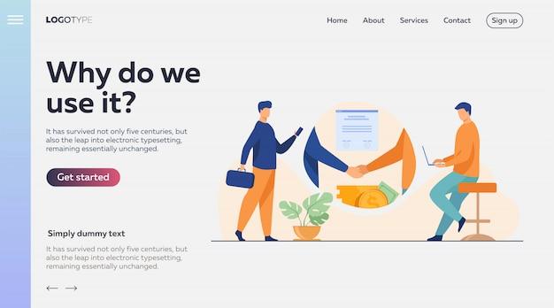 Zakelijke partners handdruk Gratis Vector