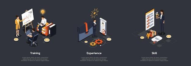Zakelijke presentatie concept. Premium Vector