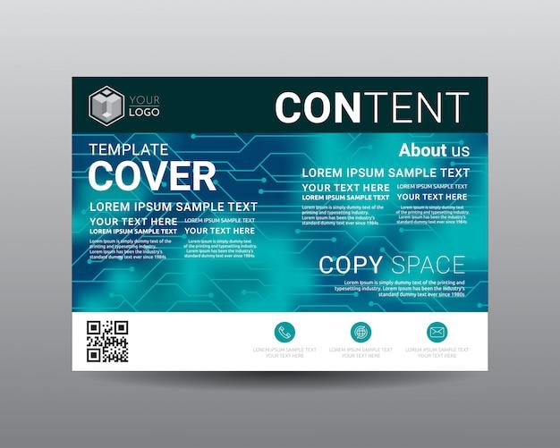 Zakelijke presentatie lay-out ontwerpsjabloon. Premium Vector