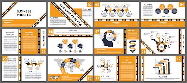 Zakelijke presentatiesjablonen. Premium Vector