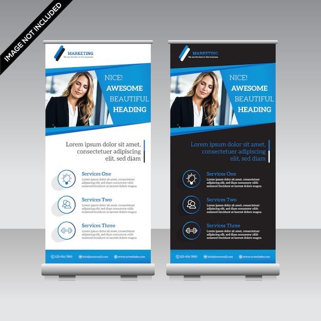 Zakelijke roll-up banner premium vector Premium Vector
