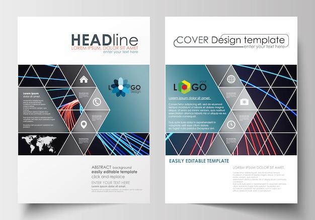 Zakelijke sjablonen voor brochure Premium Vector