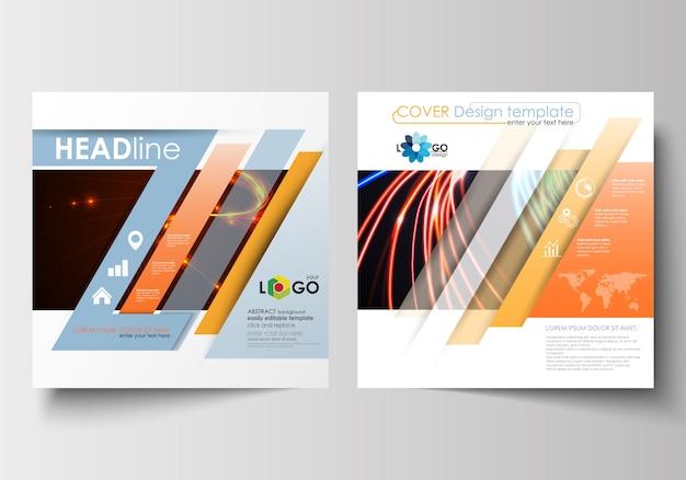 Zakelijke sjablonen voor vierkante brochure Premium Vector
