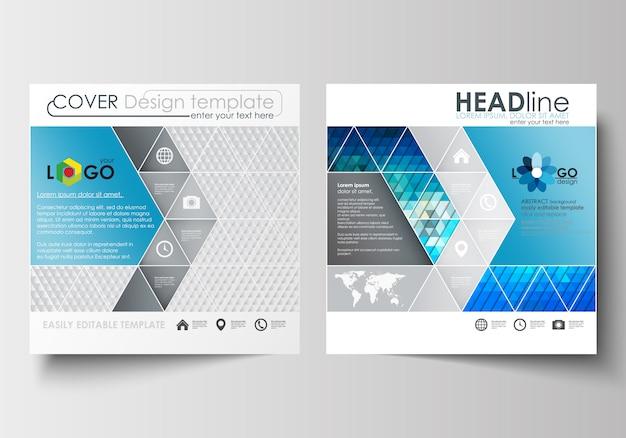 Zakelijke sjablonen voor vierkante ontwerp brochure, flyer, brochure of rapport. Premium Vector