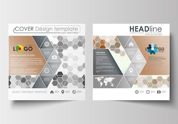 Zakelijke sjablonen voor vierkante ontwerp brochure, tijdschrift, flyer, boekje Premium Vector