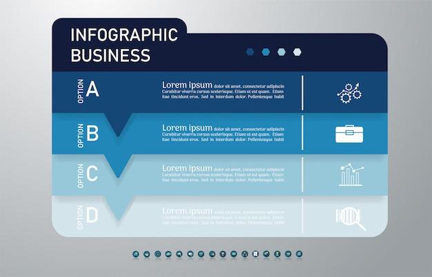 Zakelijke sjabloon infographic grafiekelement. Premium Vector