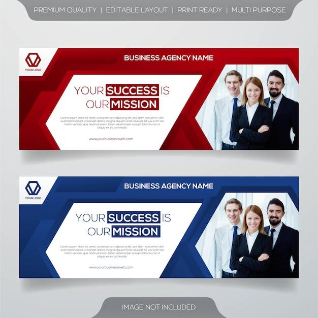 Zakelijke sjabloon voor spandoek Premium Vector
