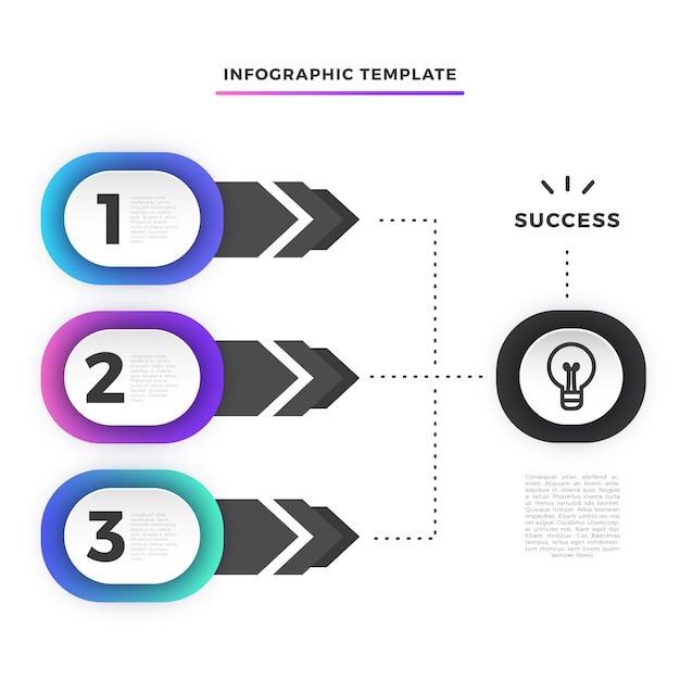 Zakelijke stap infographic sjabloon Gratis Vector