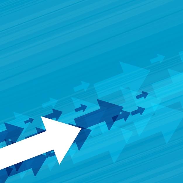 Zakelijke stijgende pijlen concept achtergrond Gratis Vector