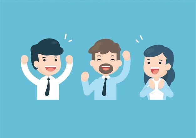 Zakelijke team vieren Premium Vector