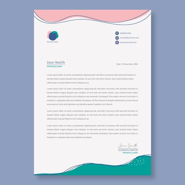 Zakelijke vrouw briefpapier sjabloon Premium Vector
