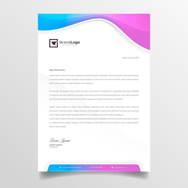 Zakelijke vrouw briefpapier Premium Vector