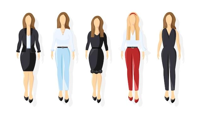 Zakelijke vrouwen collectie Premium Vector