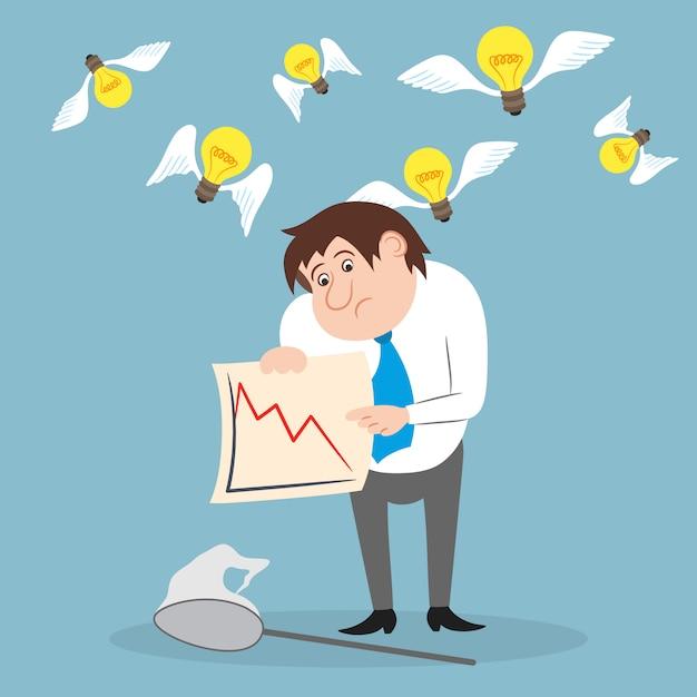 Zakenman ongelukkig met aandelenhandel Gratis Vector