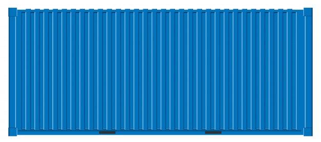 Zeevracht verzending, transport containers. Premium Vector