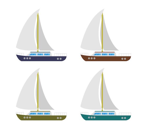 Zeilboot Premium Vector