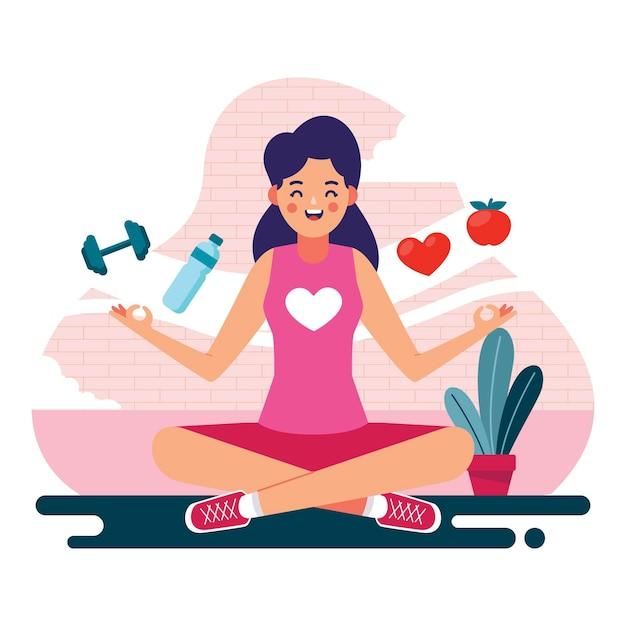 Zelfzorg gezondheid concept Gratis Vector