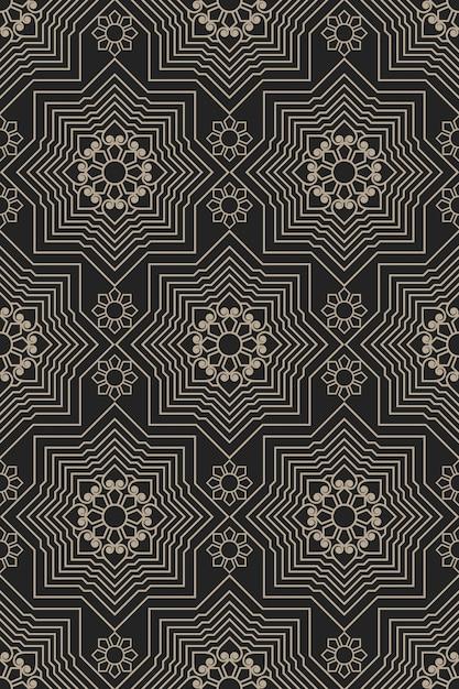 Zentangle stijl geometrisch patroon Gratis Vector