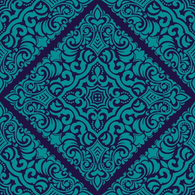 Zentangle styled geometric ornament pattern element. oriënteer traditioneel ornament. Gratis Vector