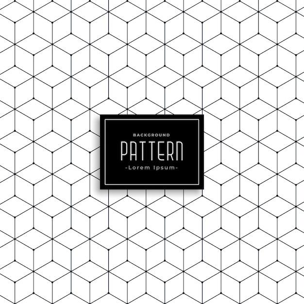 Zeshoekig geometrisch lijnpatroon ontwerp Gratis Vector