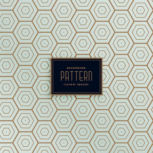 Zeshoekig lijn naadloos patroonontwerp Gratis Vector