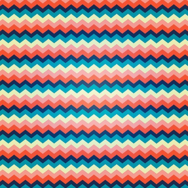 Zigzagpatroon met levendige kleuren Gratis Vector