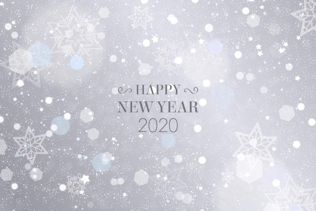 Zilver nieuw jaar 2020 behang Gratis Vector