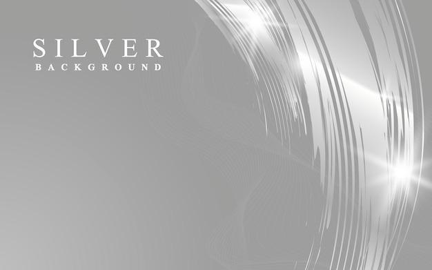 Zilveren golf abstracte illustratie als achtergrond Gratis Vector