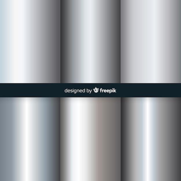 Zilveren verloop achtergrond Gratis Vector