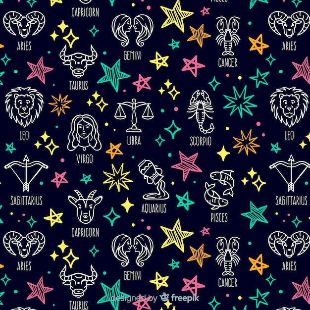 Zodiac patroon Gratis Vector