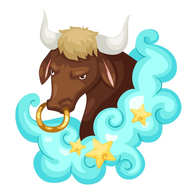 Zodiac signs - taurus vector illustratie Premium Vector
