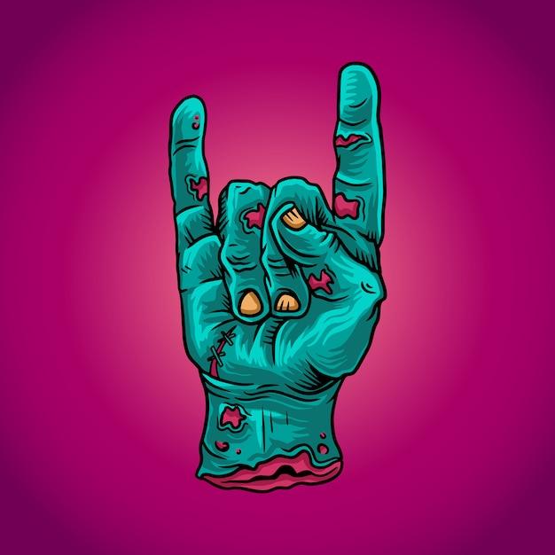 Zombie hand Premium Vector