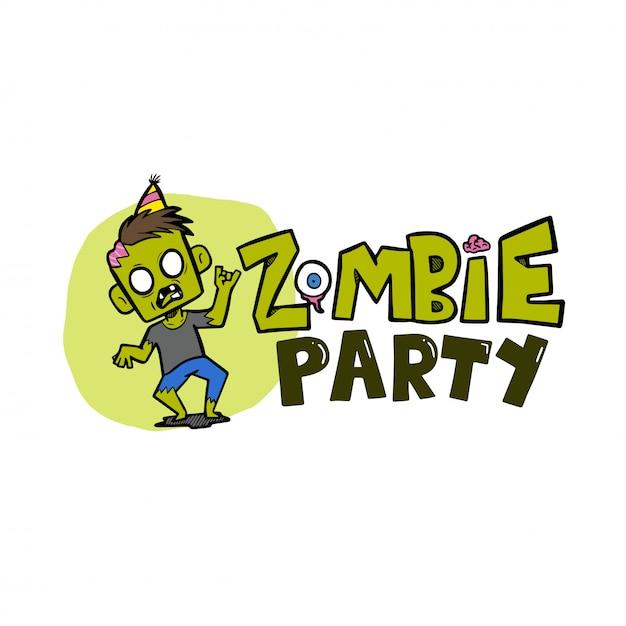 Zombie partij halloween vectorillustratie Premium Vector